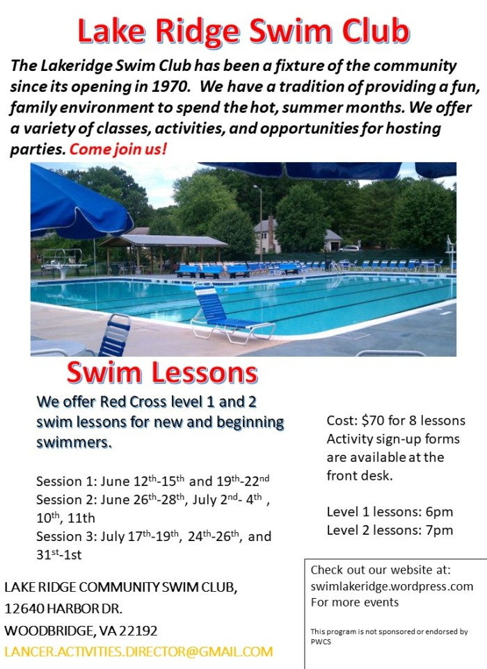 swim lessons flyer